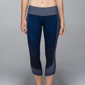 LULULEMON Athletica Wunder Under Sashiko Leggings